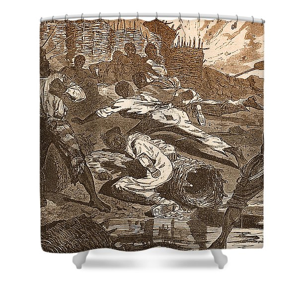Siege Of Vicksburg, 1863 Shower Curtain by Photo Researchers