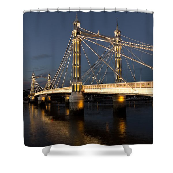 The Albert Bridge London Shower Curtain by David Pyatt