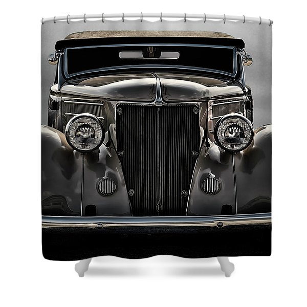 '36 Ford Convertible Coupe Shower Curtain by Douglas Pittman
