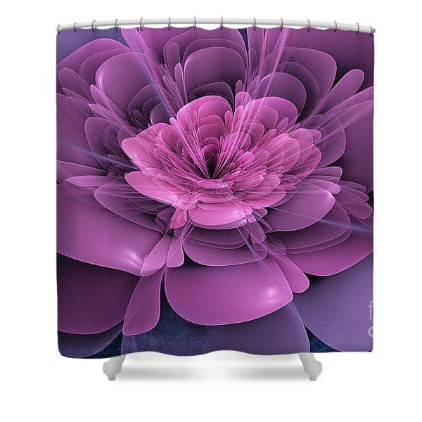 3D Flower Shower Curtain by John Edwards