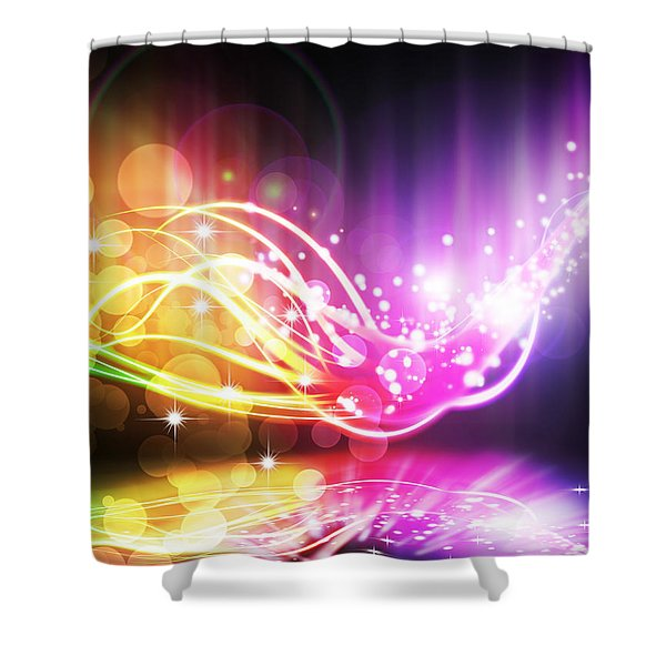 abstract lighting effect  Shower Curtain by Setsiri Silapasuwanchai