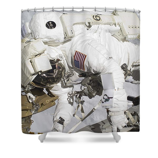 An Astronaut Participates In A Session Shower Curtain by Stocktrek Images
