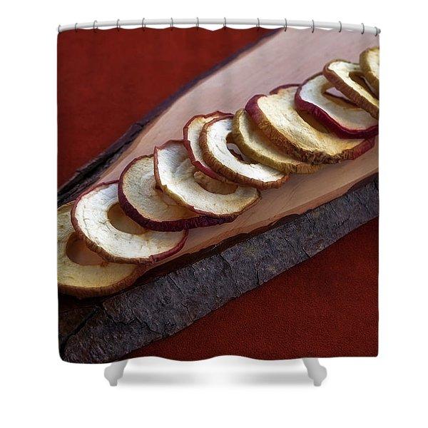 Apple Chips Shower Curtain by Joana Kruse