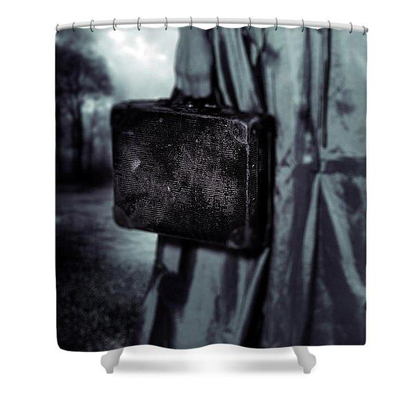 Suitcase Shower Curtain by Joana Kruse