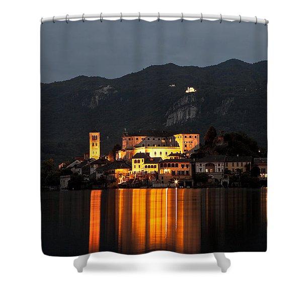 Island Of San Giulio Shower Curtain by Joana Kruse