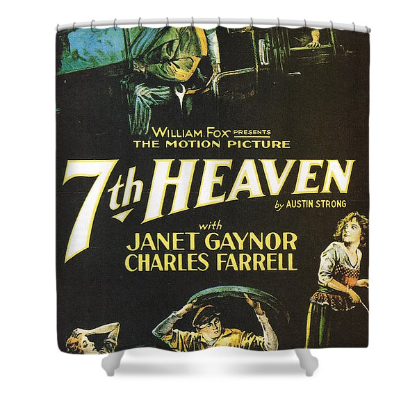 7th Heaven Shower Curtain by Nomad Art And  Design