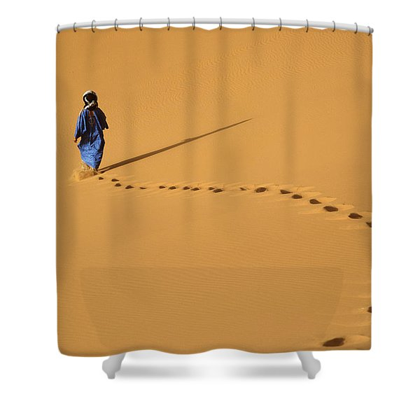 Merzouga, Morocco Shower Curtain by Axiom Photographic