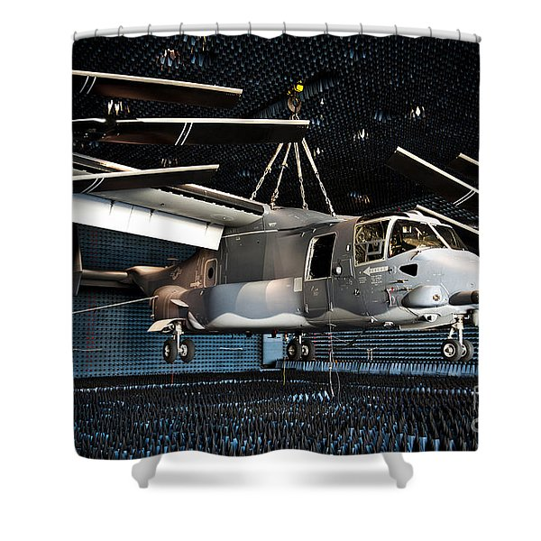 A Cv-22 Osprey Hangs In A Anechoic Shower Curtain by Stocktrek Images