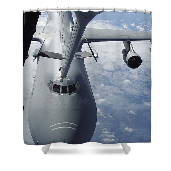 A Kc-10 Extender Prepares To Refuel Shower Curtain by Stocktrek Images