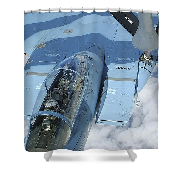 A Kc-135 Stratotanker Provides Shower Curtain by Stocktrek Images