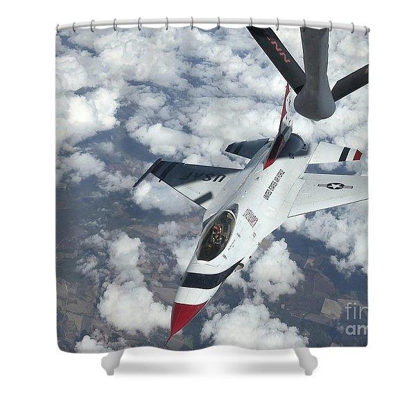 A Kc-135 Stratotanker Refuels An Air Shower Curtain by Stocktrek Images