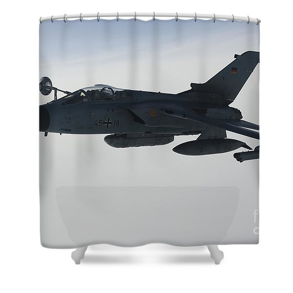A Luftwaffe Tornado Ids Refueling Shower Curtain by Gert Kromhout