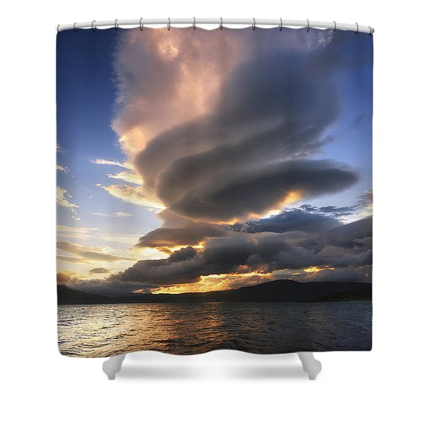 A Massive Stacked Lenticular Cloud Shower Curtain by Arild Heitmann