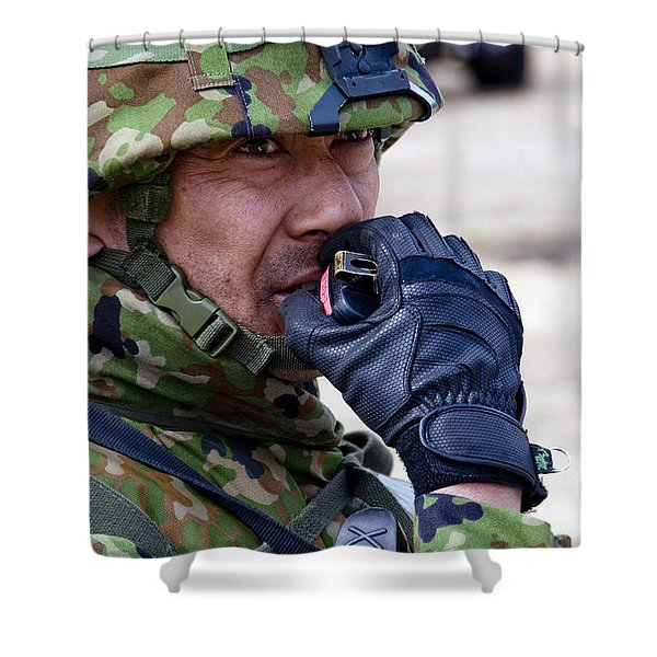 A Member Of The Japan Ground Shower Curtain by Stocktrek Images