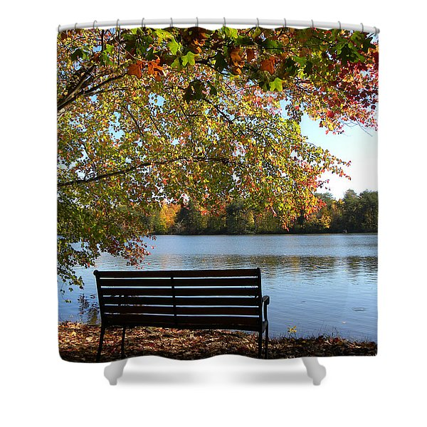 A Place For Thanks Giving Shower Curtain by Sandi OReilly