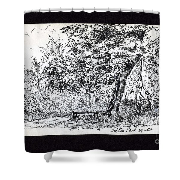 A Quiet Corner 1958 Shower Curtain by John Chatterley