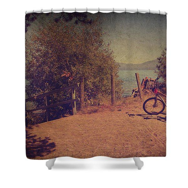 A Ride Down To The Lake Shower Curtain by Laurie Search