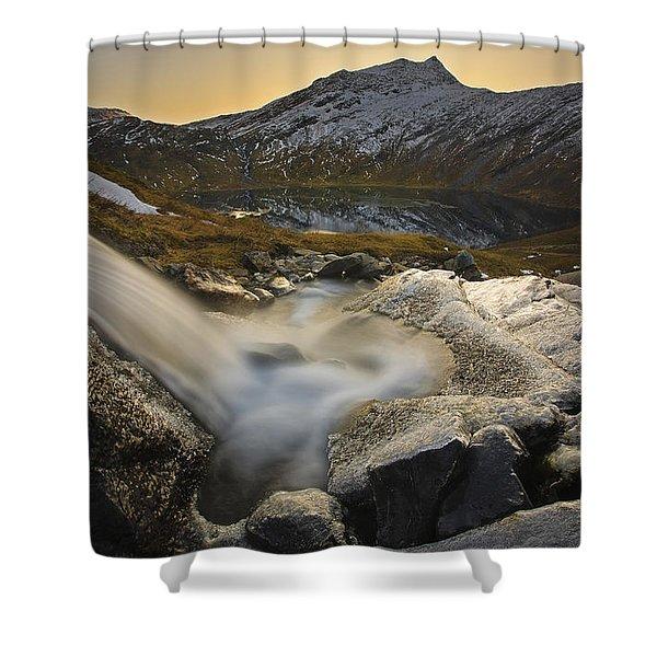 A Small Creek Running Shower Curtain by Arild Heitmann