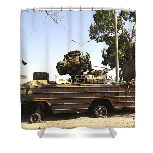 A Surface-to-air Missile Air Defense Shower Curtain by Andrew Chittock