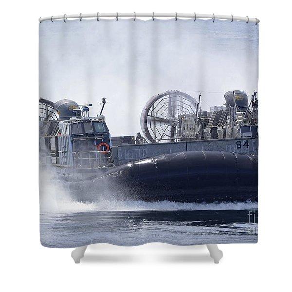 A U.s. Marine Corps Landing Craft Air Shower Curtain by Stocktrek Images