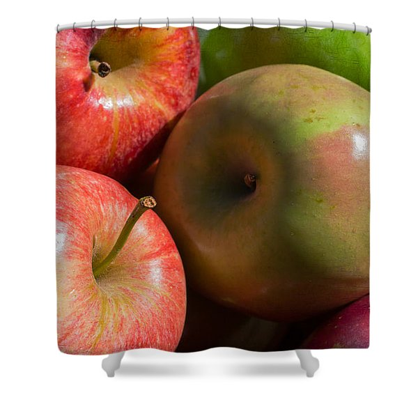 A Variety Of Apples Shower Curtain by Heidi Smith