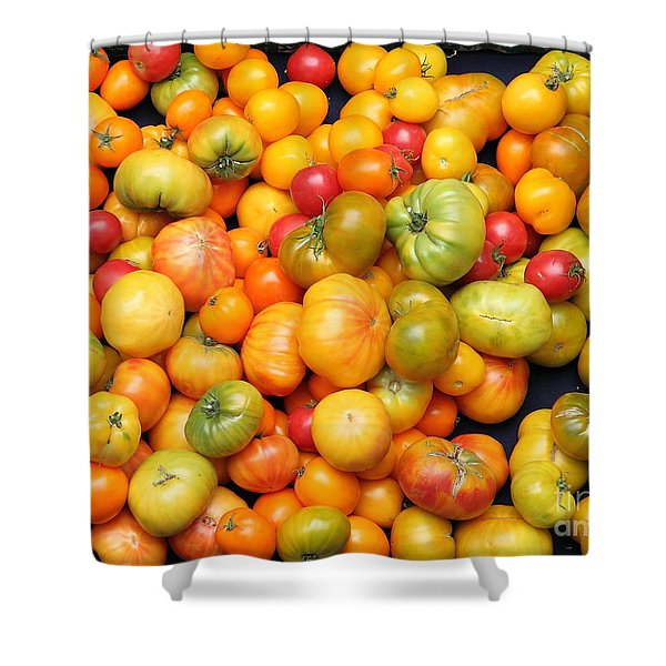 A Variety of Fresh Tomatoes - 5D17904 Shower Curtain by Wingsdomain Art and Photography