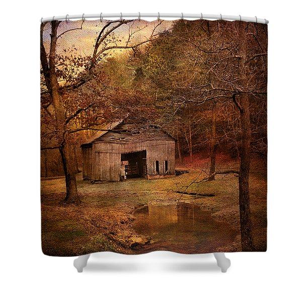 Abandoned Barn Shower Curtain by Jai Johnson
