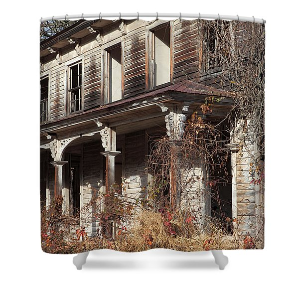 Abandoned Dilapidated Homestead Shower Curtain by John Stephens