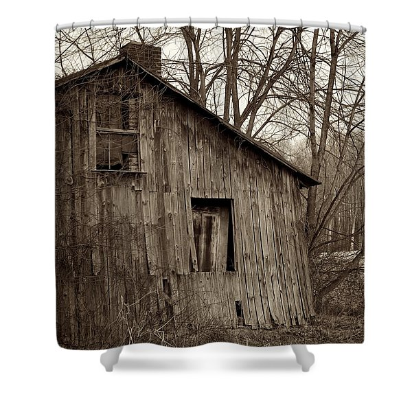 Abandoned Farmstead Facade Shower Curtain by John Stephens
