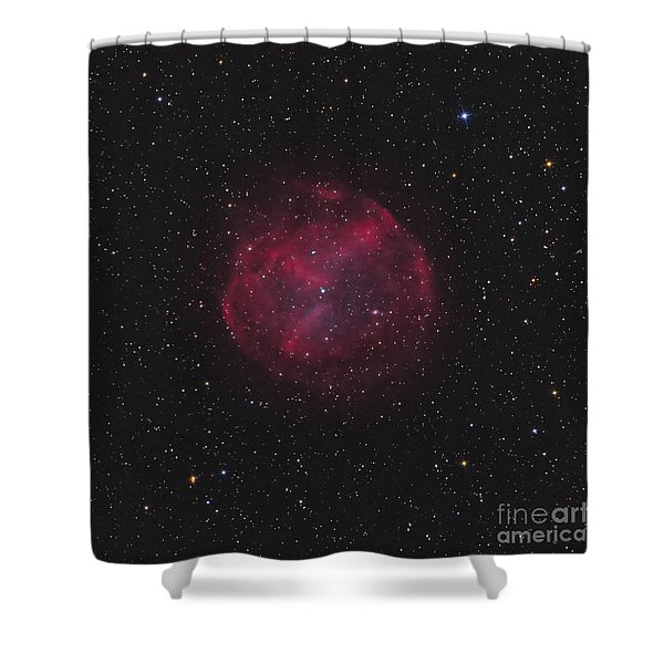 Abell 74, Planetary Nebula Shower Curtain by Don Goldman