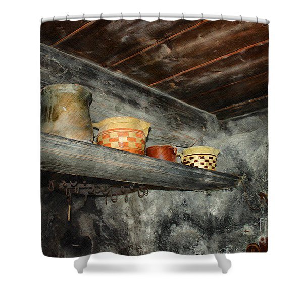 Above The Stove Shower Curtain by Jutta Maria Pusl