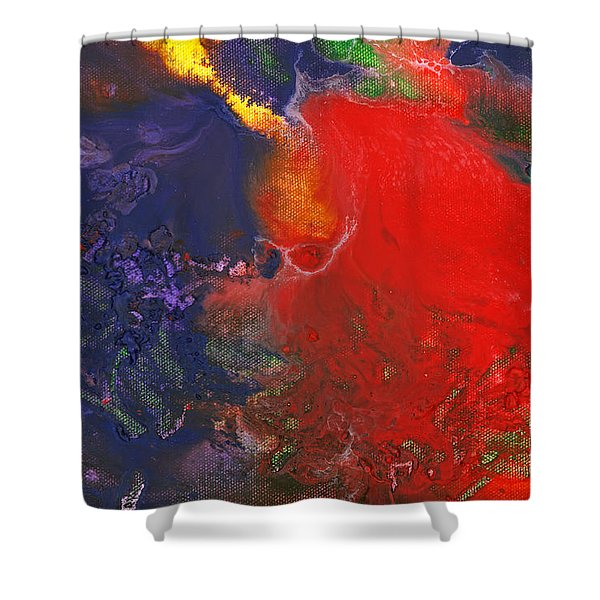 Abstract - Crayon - Andromeda Shower Curtain by Mike Savad