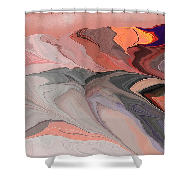 Abstract 012812abc Shower Curtain by David Lane