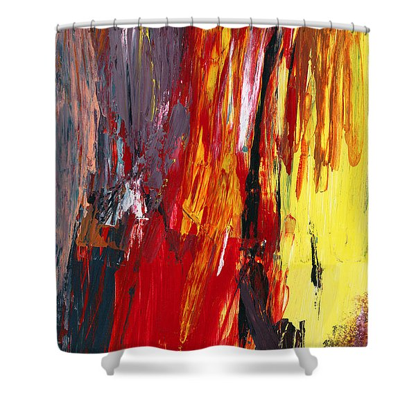 Abstract - Acrylic - Rising power Shower Curtain by Mike Savad