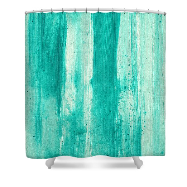 Abstract Art Original Decorative Painting Aqua Passion By Madart Shower Curtain by Megan Duncanson