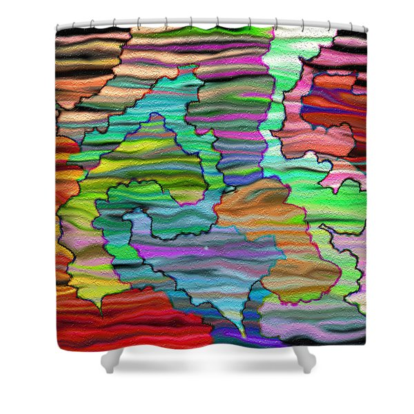 Abstract Emotions Shower Curtain by Gina Lee Manley