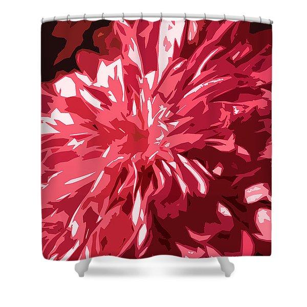 abstract flowers Shower Curtain by Sumit Mehndiratta
