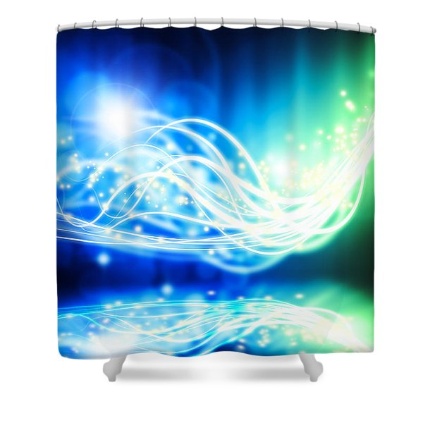 abstract lighting effect  Shower Curtain by Setsiri Silapasuwanchai
