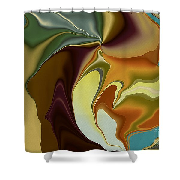 Abstract With Mood Shower Curtain by Deborah Benoit