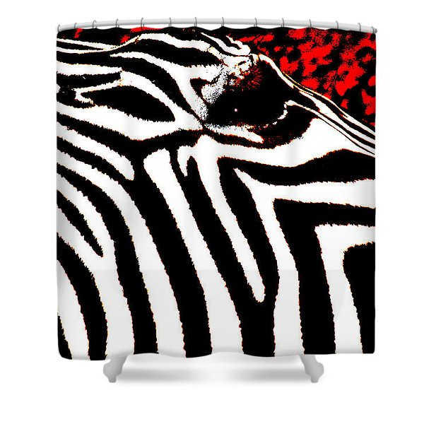 Abstract Zebra 001 Shower Curtain by Lon Casler Bixby