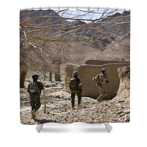 Afghan Commandos Are Guided Shower Curtain by Stocktrek Images