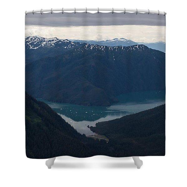 Alaska Coastal Serenity Shower Curtain by Mike Reid
