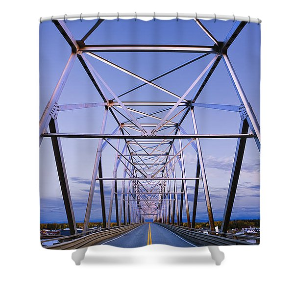 Alaska Native Veterans Honor Bridge Shower Curtain by Yves Marcoux
