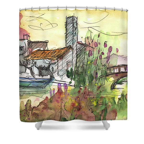 Albufera De Valencia 25 Shower Curtain by Miki De Goodaboom