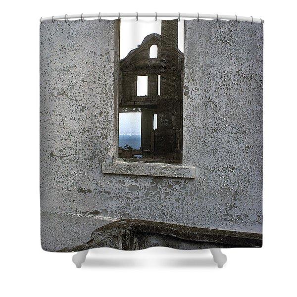 Alcatraz - windows Shower Curtain by Paul W Faust -  Impressions of Light