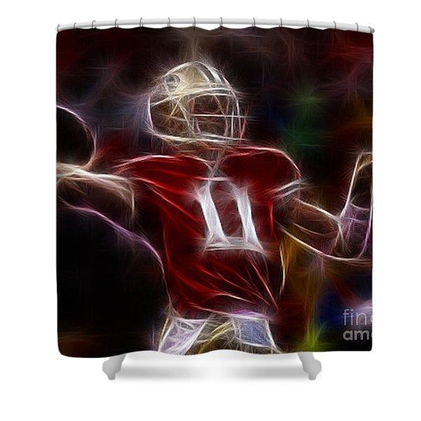 Alex Smith - 49ers Quarterback Shower Curtain by Paul Ward