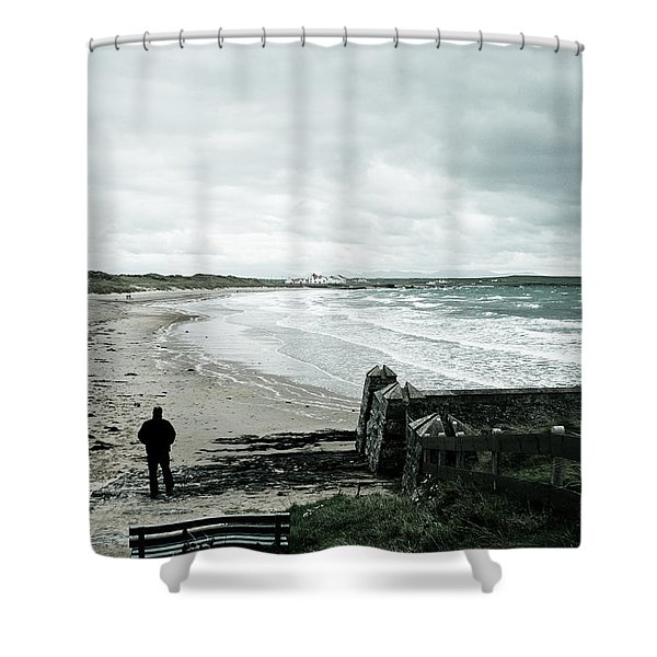 Alone Without You Shower Curtain by Nomad Art And  Design
