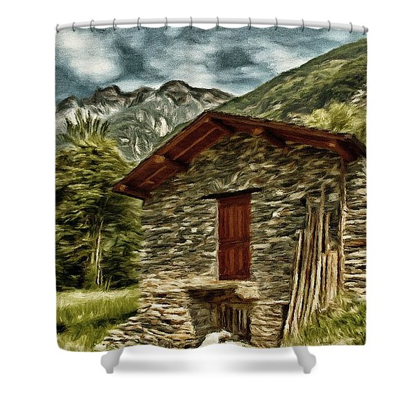 Alpine Ruins Shower Curtain by Jeff Kolker