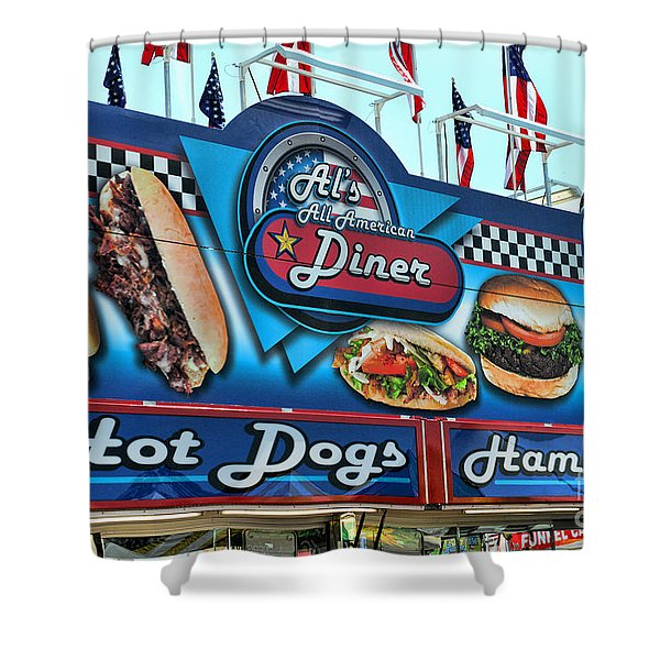 Al's All American Diner Shower Curtain by Paul Ward