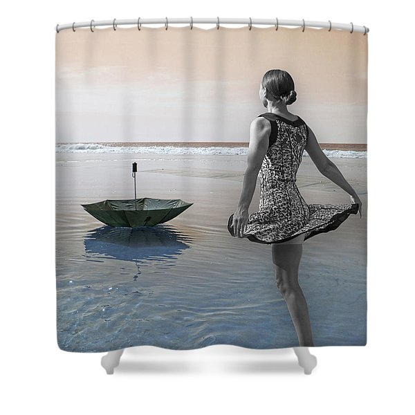 Always Looking to the Light Shower Curtain by Betsy C  Knapp